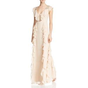 NWT Aidan Mattox 'Flutter Sleeves Beaded Dress'